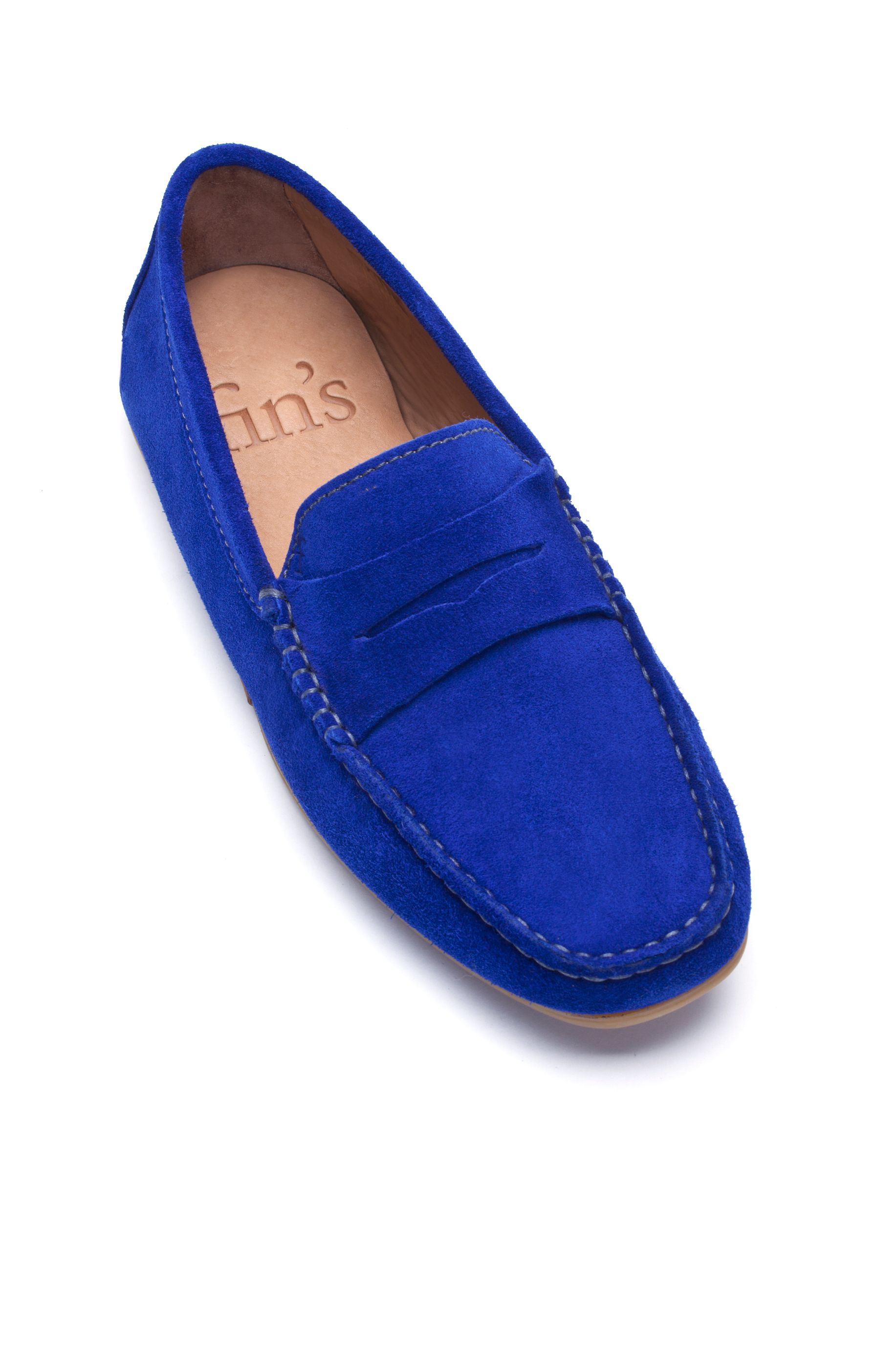 Bell Driver blue bobble sole moccasins