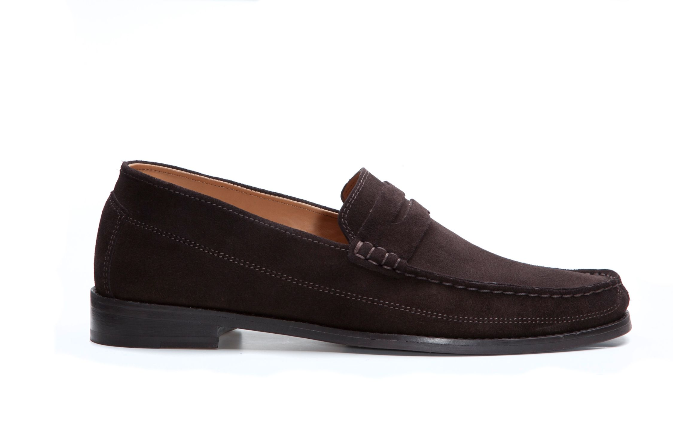 Peregrine brown suede loafers