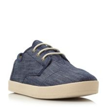 Paseo denim lace up trainers