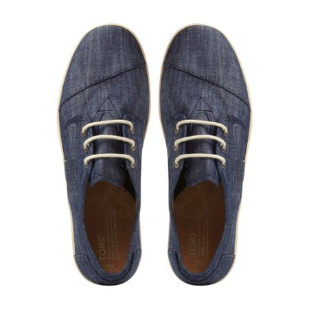 Toms Paseo denim lace up trainers
