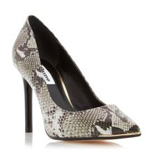 Azaleah metal toe detail court shoes
