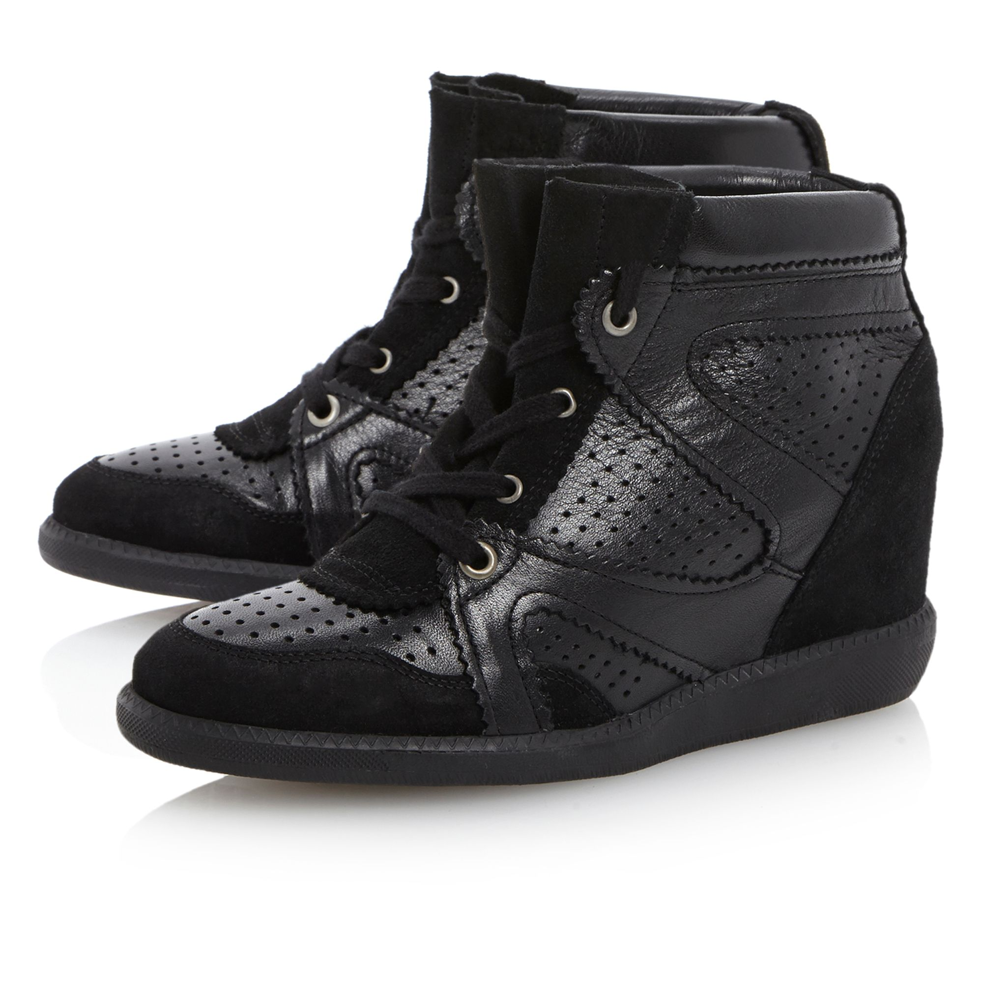 Libras wedge lace up trainers