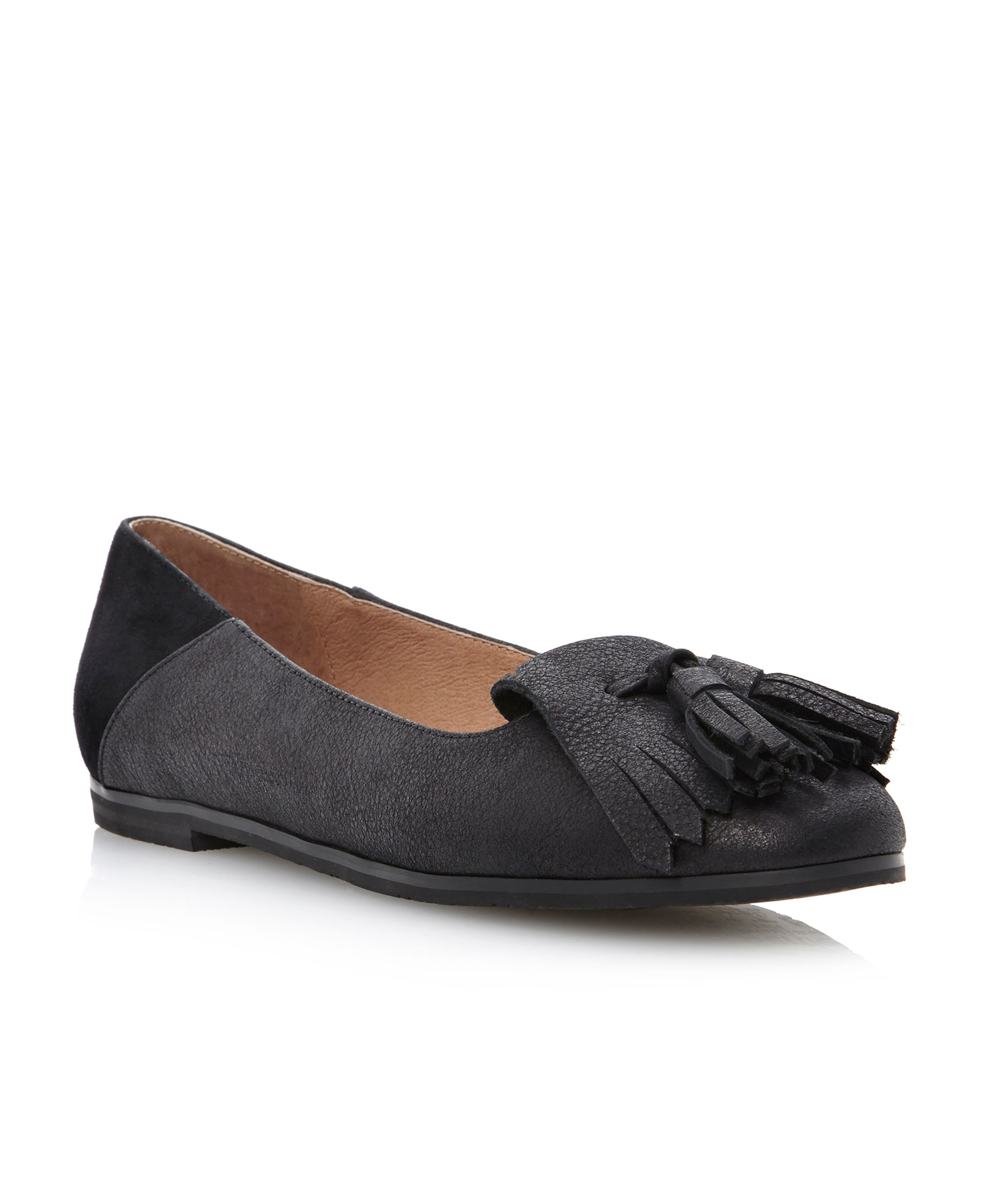 Liza-fringe loafer shoes