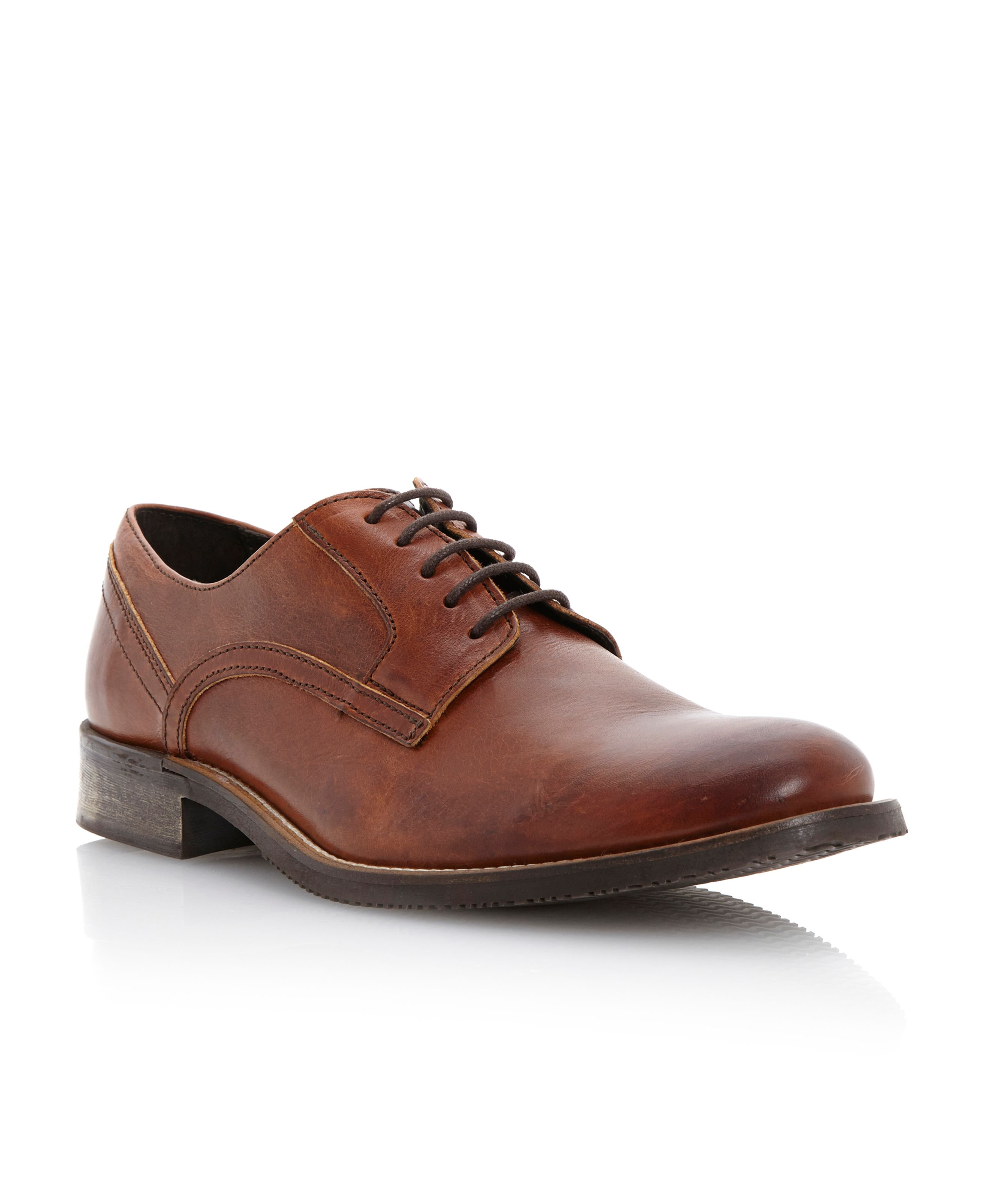 Belsit plain round toe gibson shoes