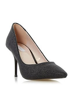 Bekissed glitter mid heel court shoes