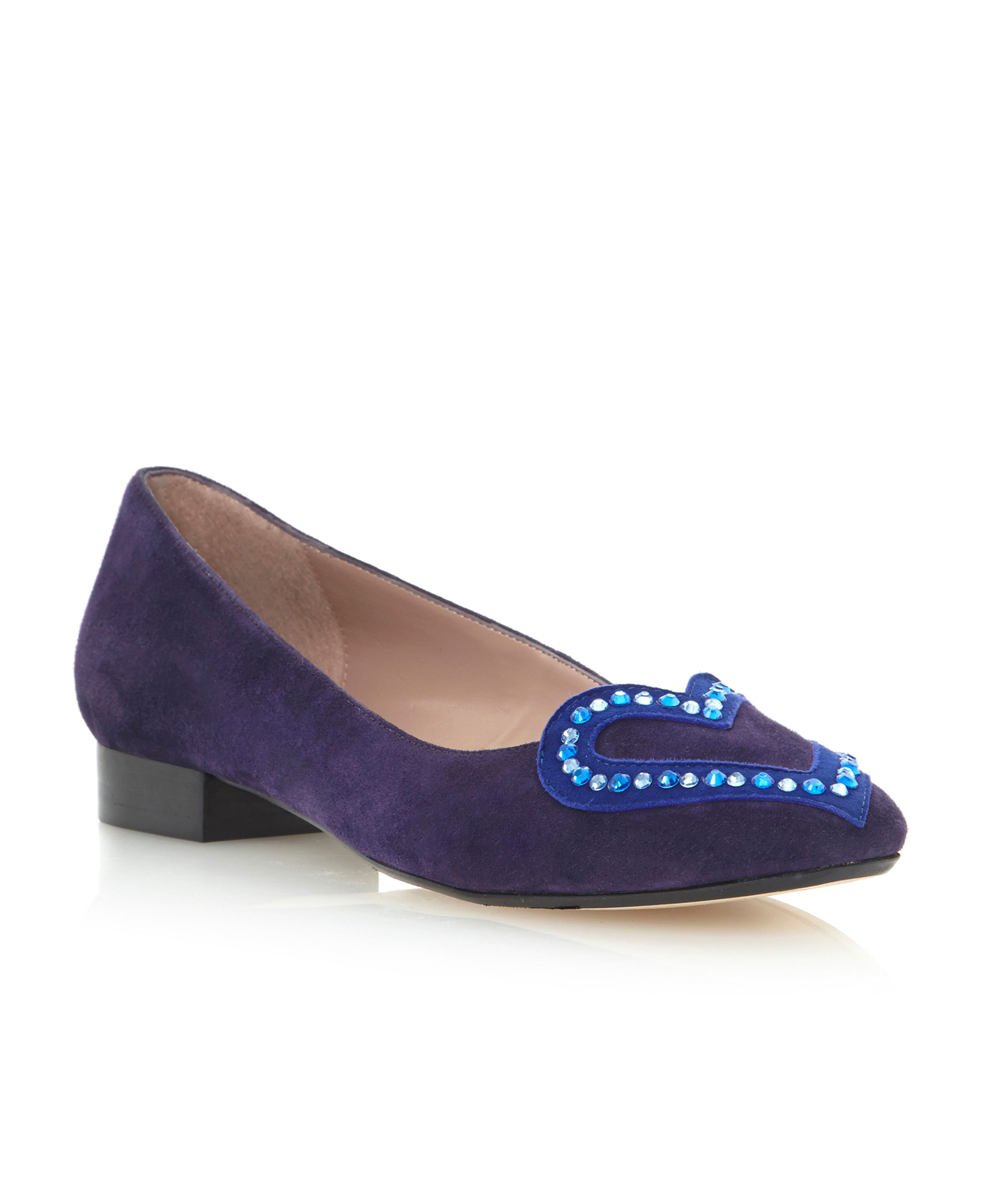 Loveley heart slip on loafer shoes