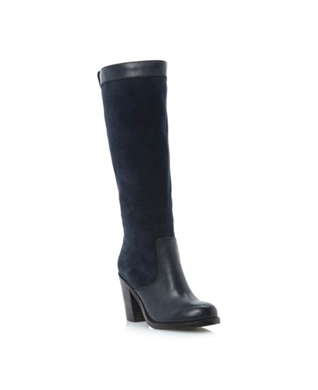 Bertie Tempest suede and leather knee boots