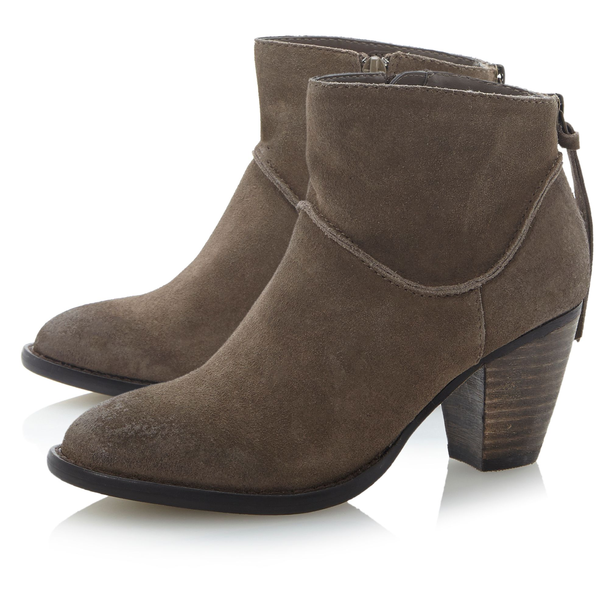 Milan back counter zip ankle boots