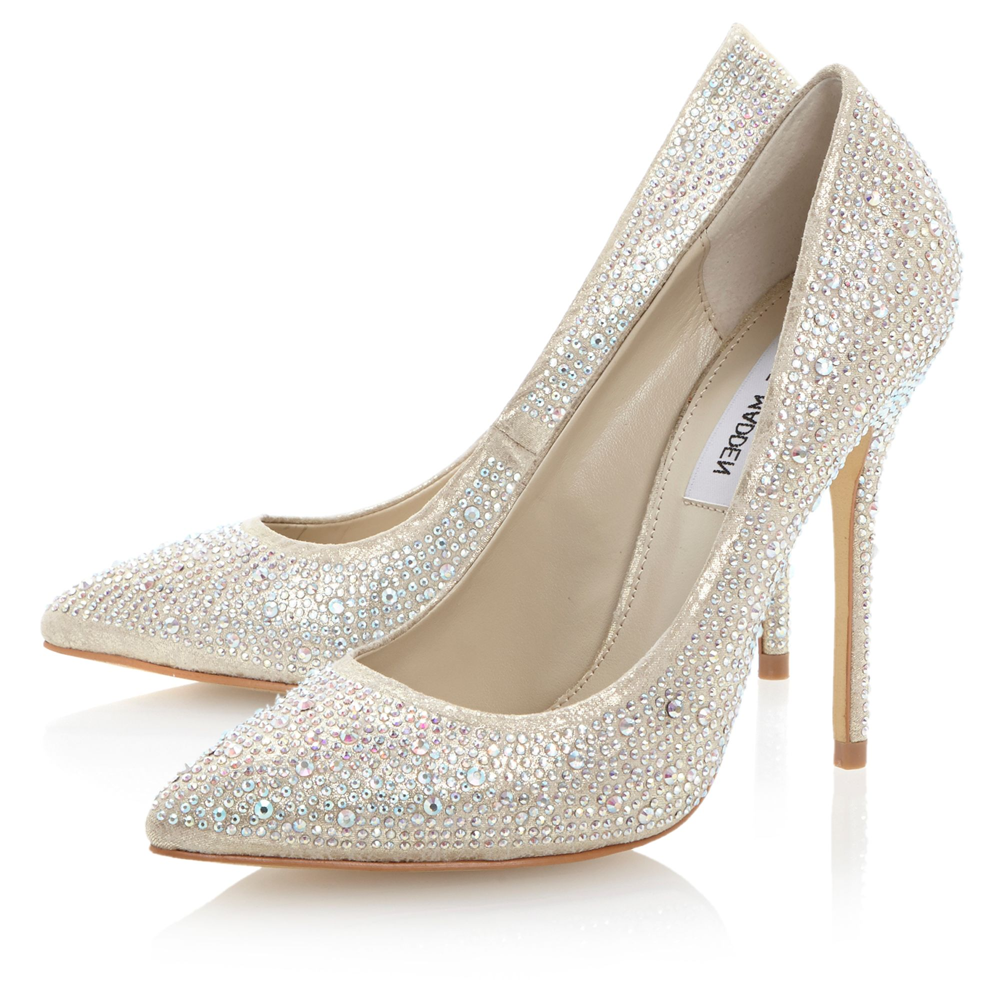 Lenona-all over diamante court shoes
