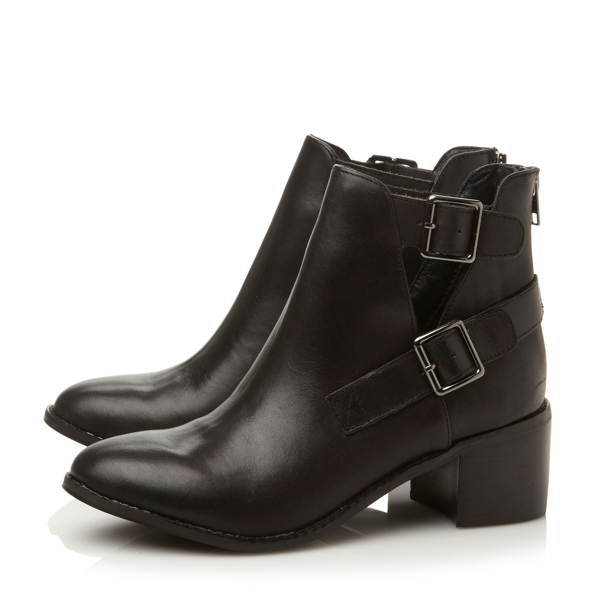 Peeper-cut out side boots