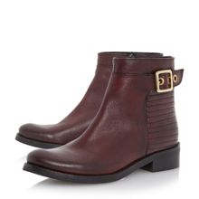 Padston stitch detail buckle ankle boots