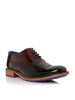 Krelly contrast sole lace up brogue