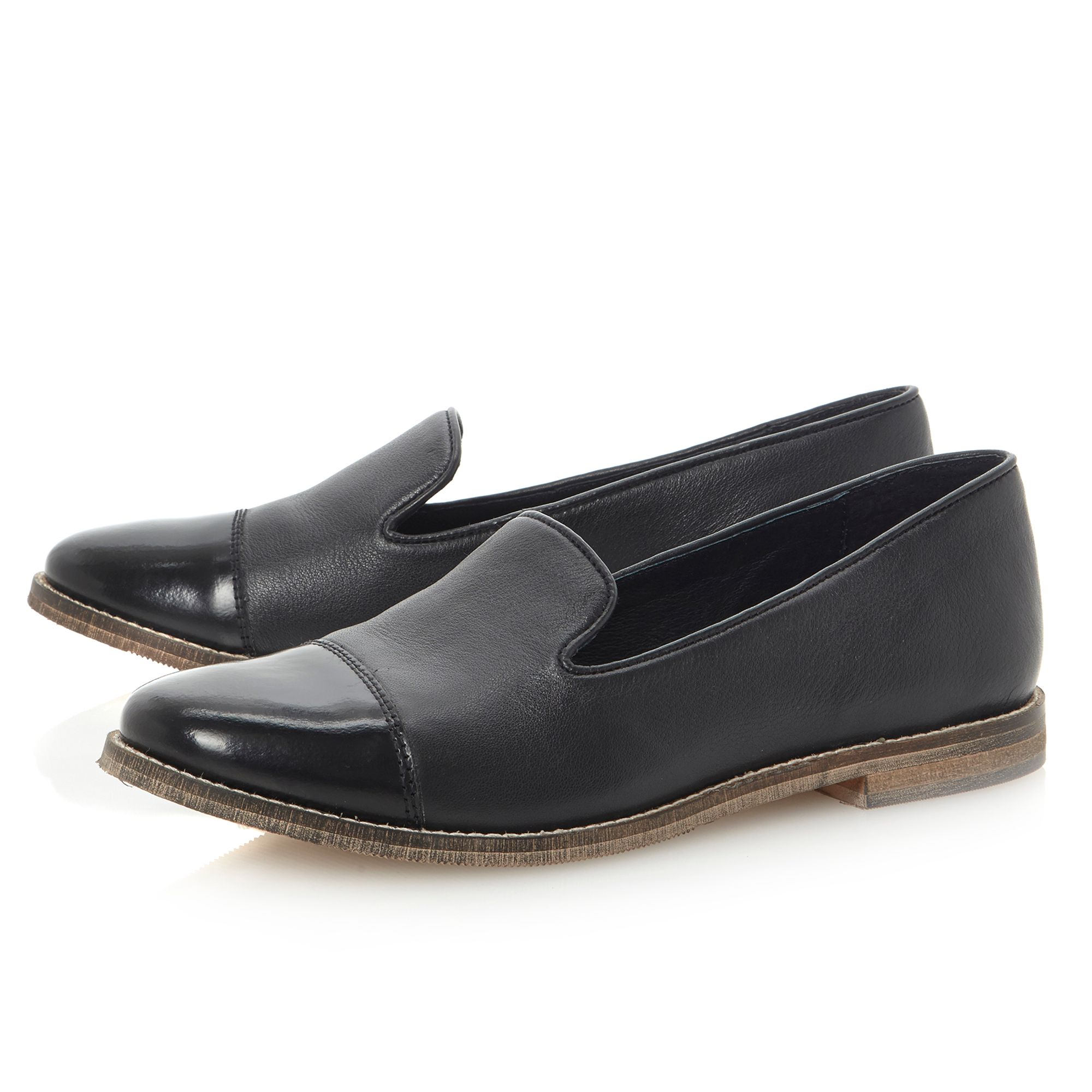 Loni leather toecaup slipper shoes