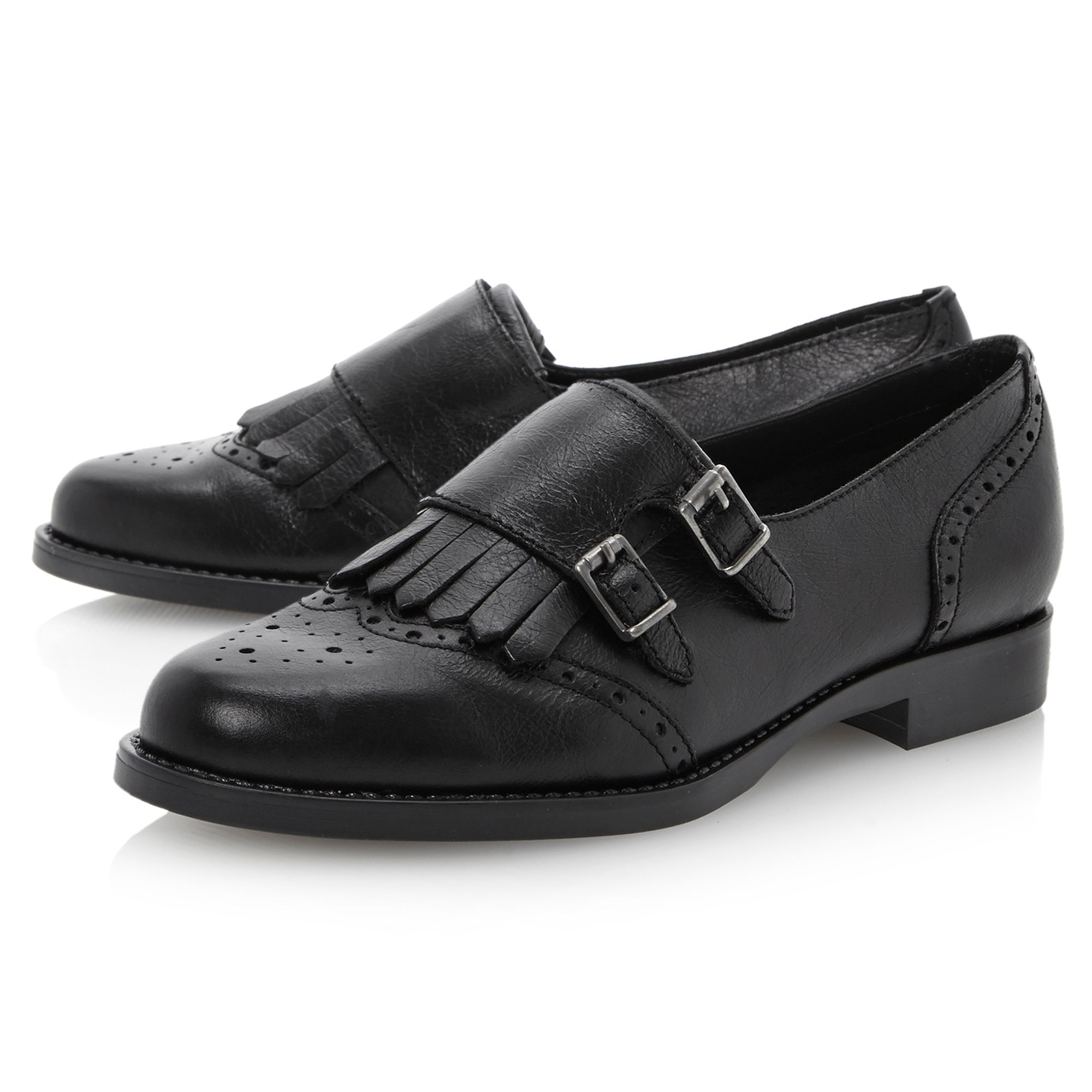 Livia double buckle monk shoes