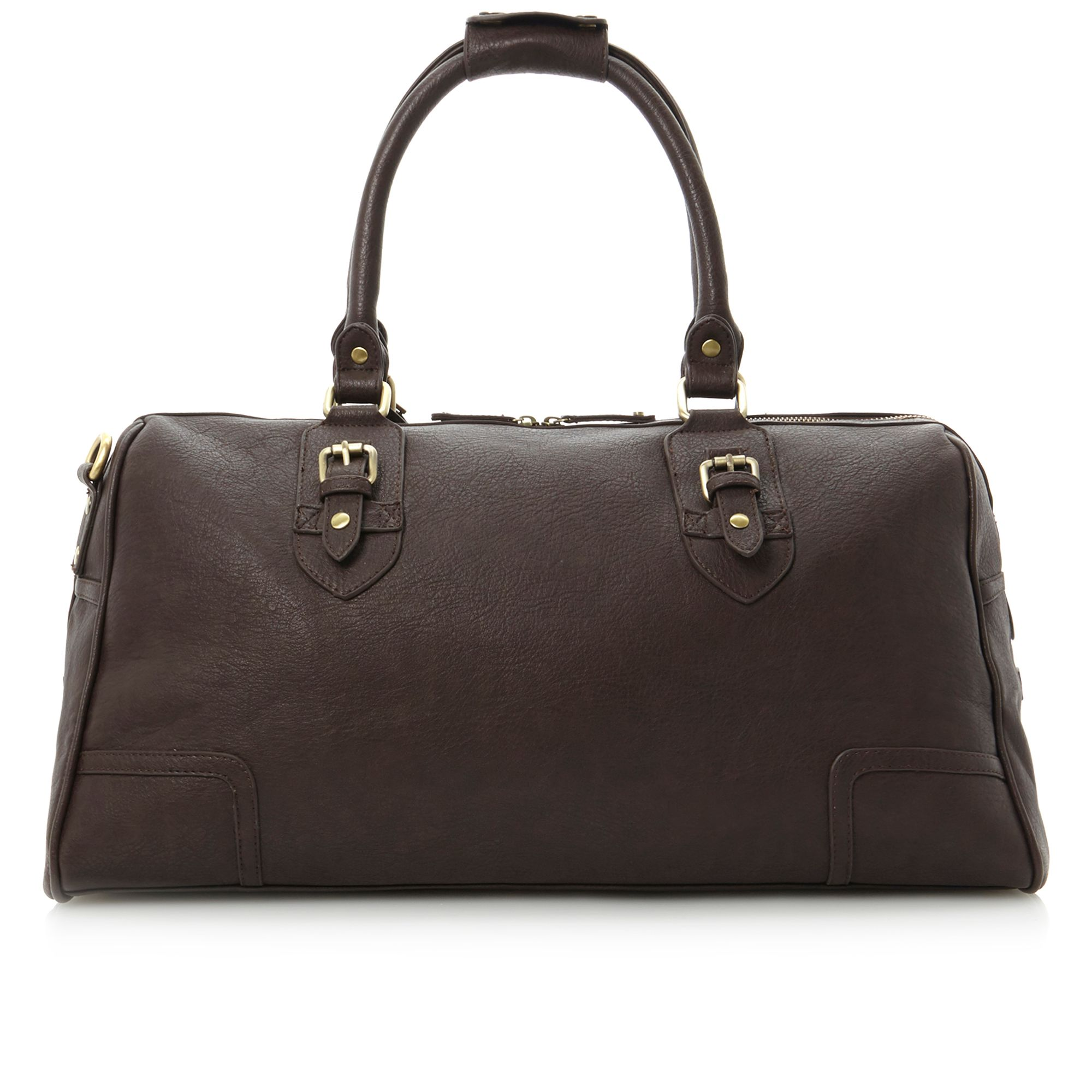 Paddal buckle detail mens holdall bag