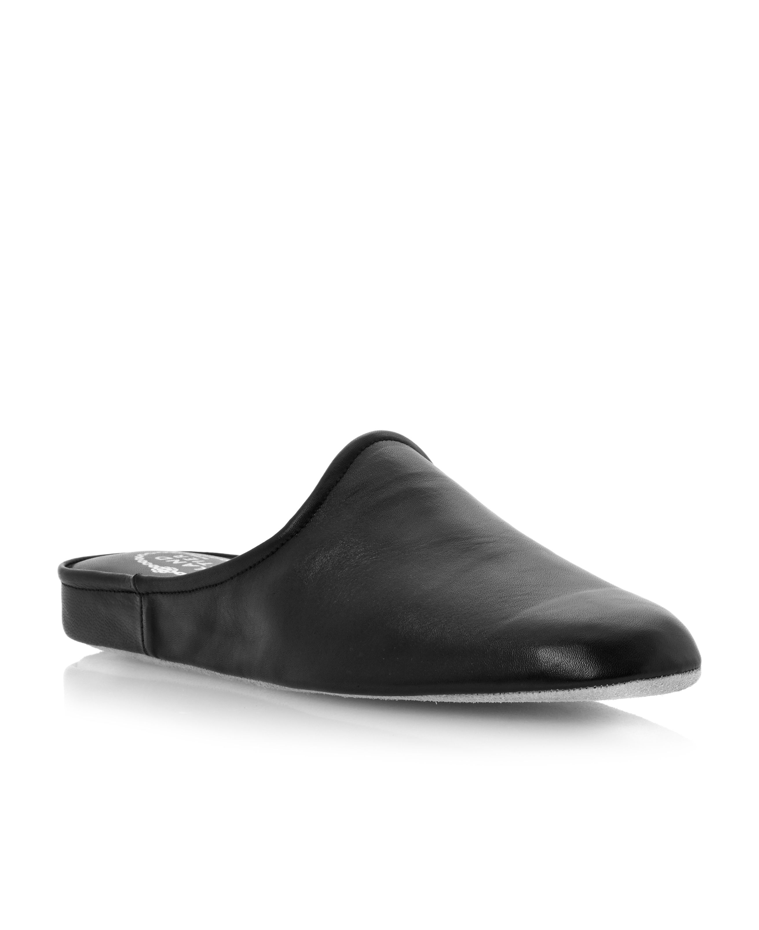 Finsbury Circus soft leather mule slippers