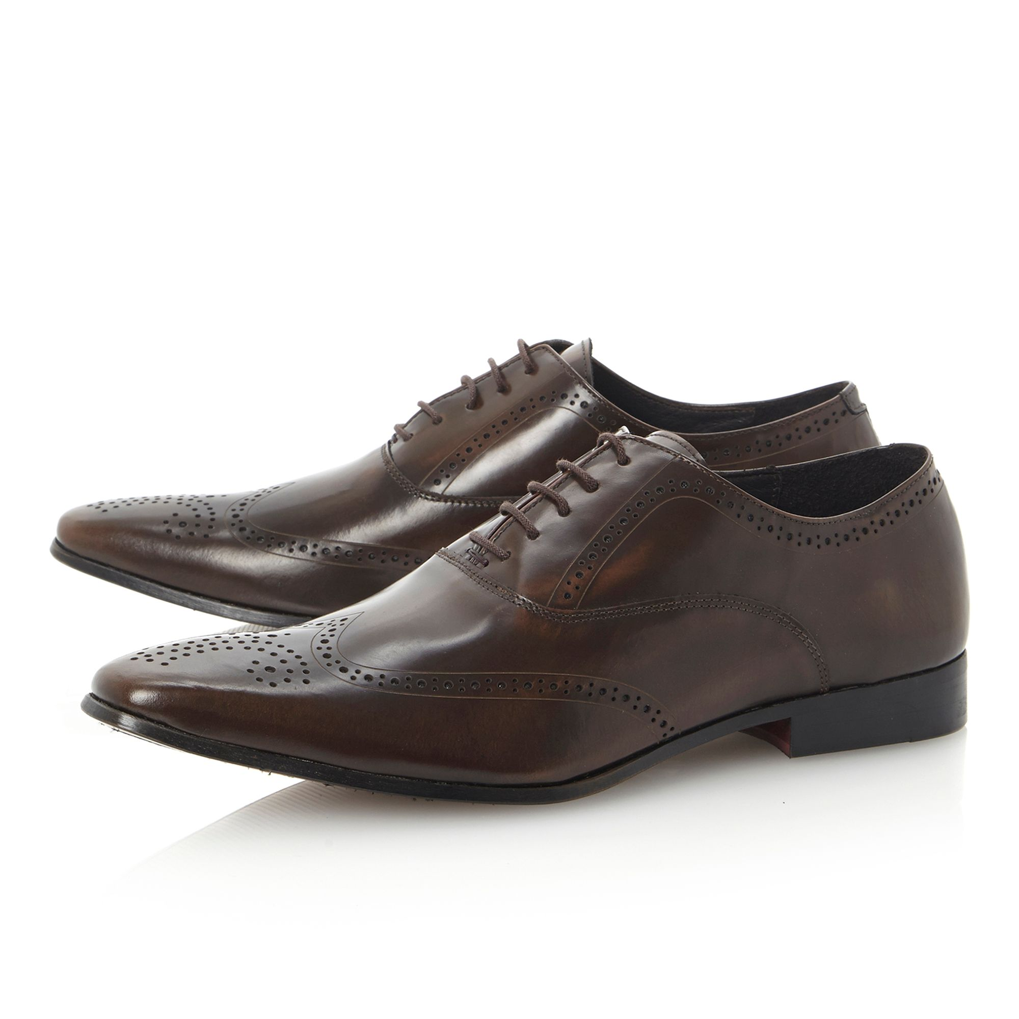 Acoustical laser print oxford shoes
