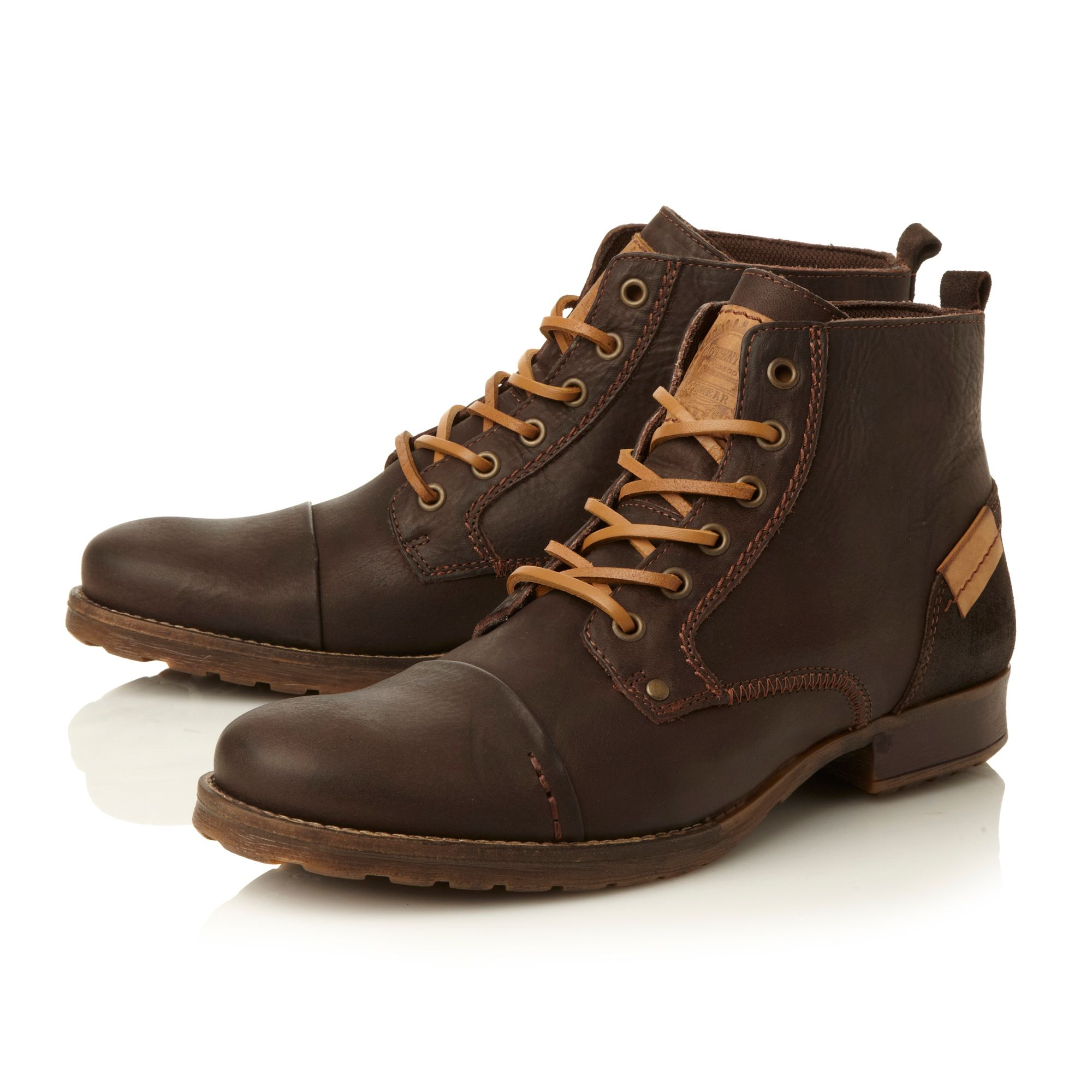Coach folded seam toe cap boots