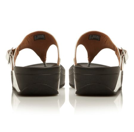 FitFlop Skinny leather round toe flat buckle sandals