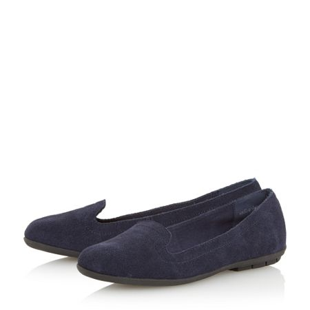 Linea Hammonds rubber sole suede slipper flats