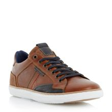 Dune Tailored1 Stitch Detail Leather Trainers