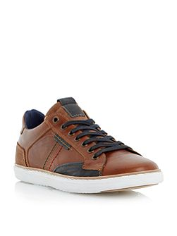 Tailored1 Stitch Detail Leather Trainers