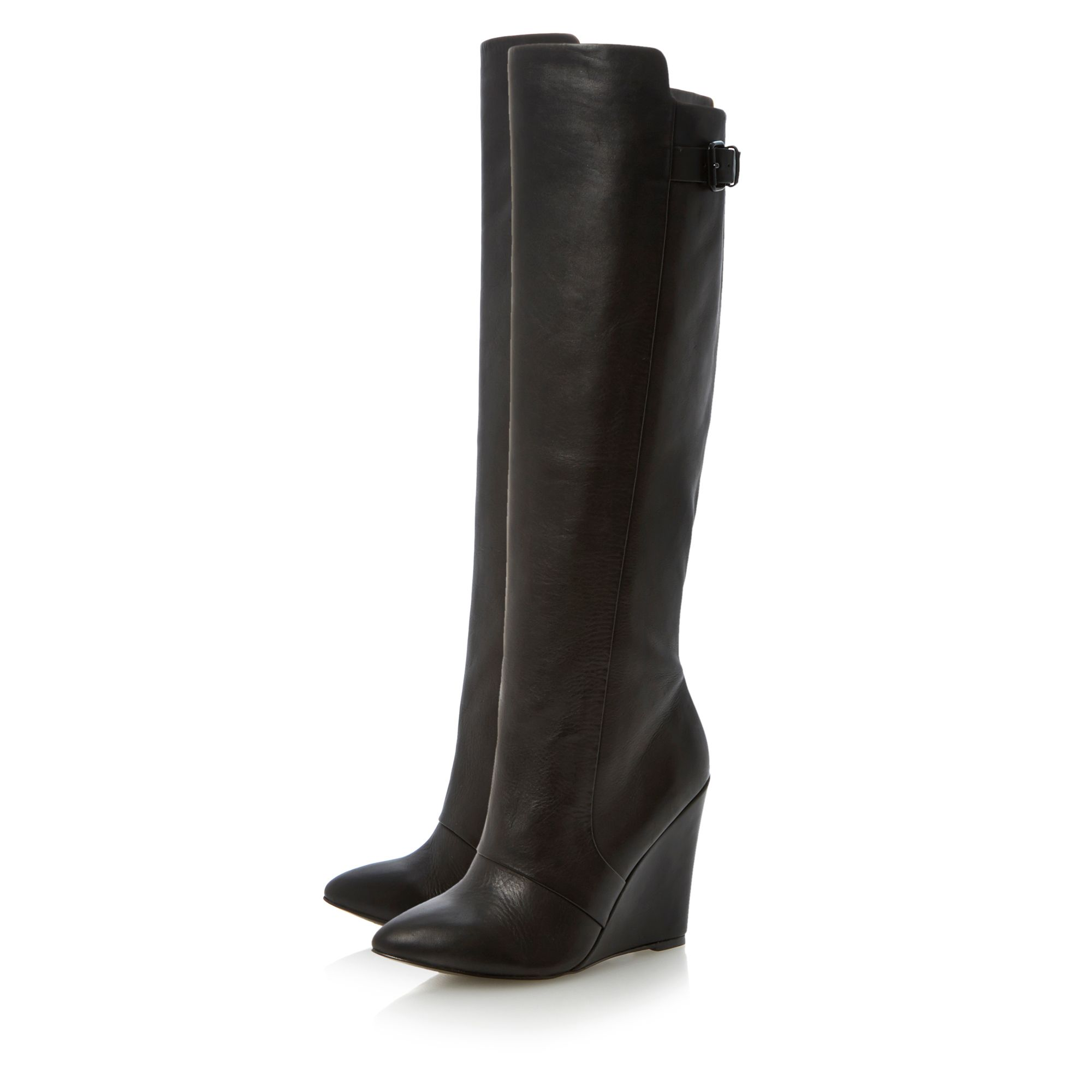 Zylon high leg point wedge boots