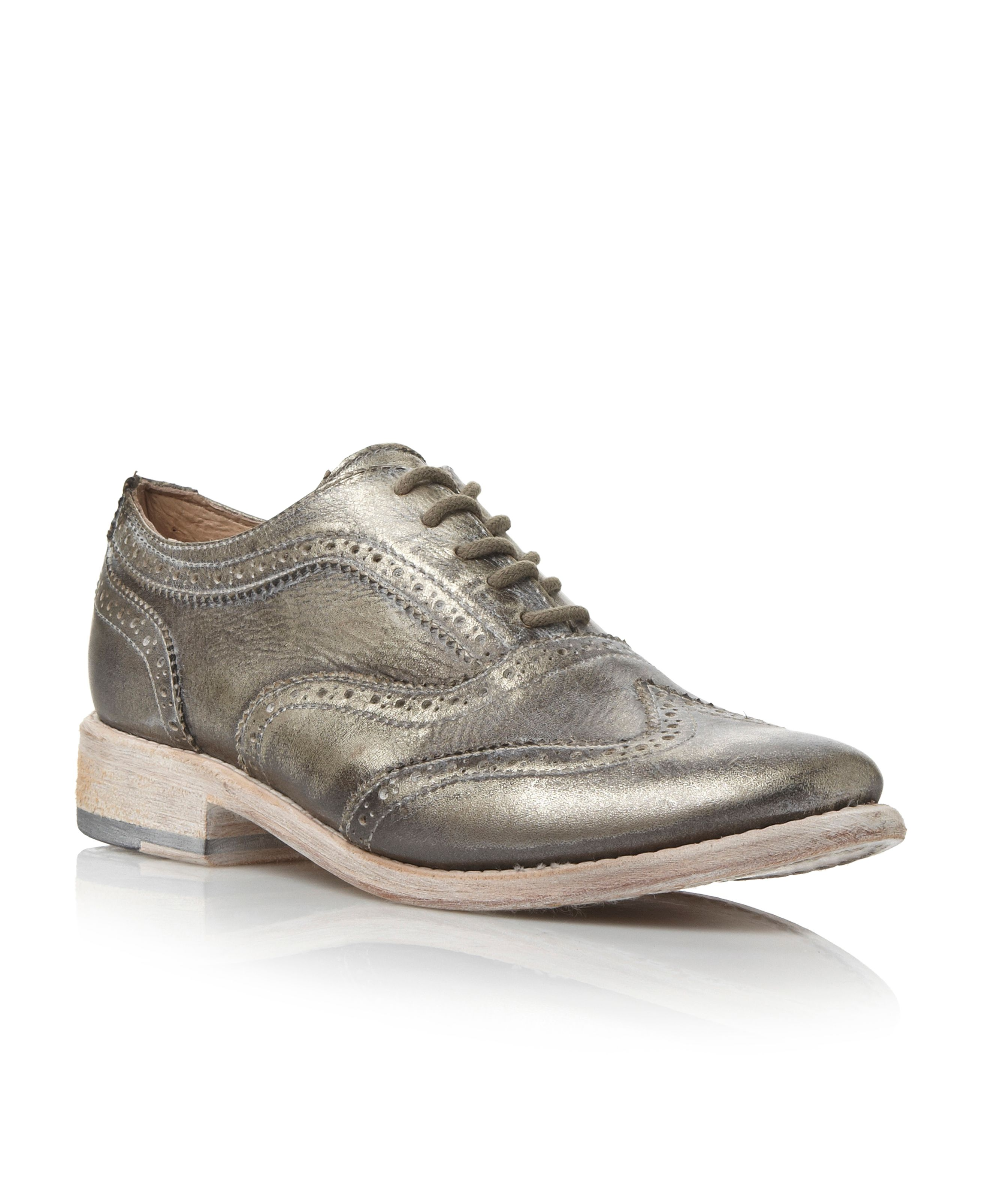 Lace up brogue shoes