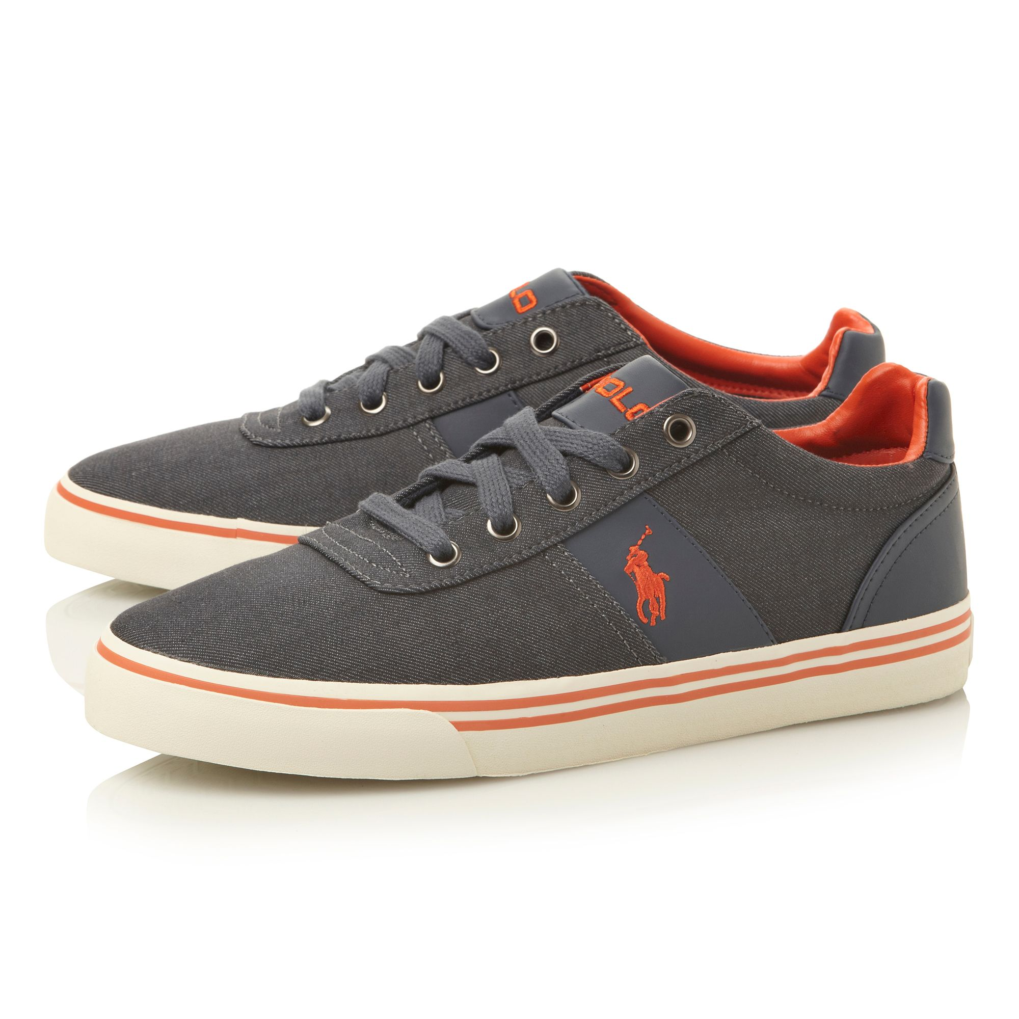 Hanford-ne lace up foxing stripe trainers
