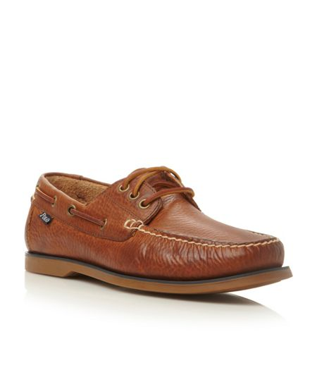 Polo Ralph Lauren Bienne lace up tumbled leather boat shoes