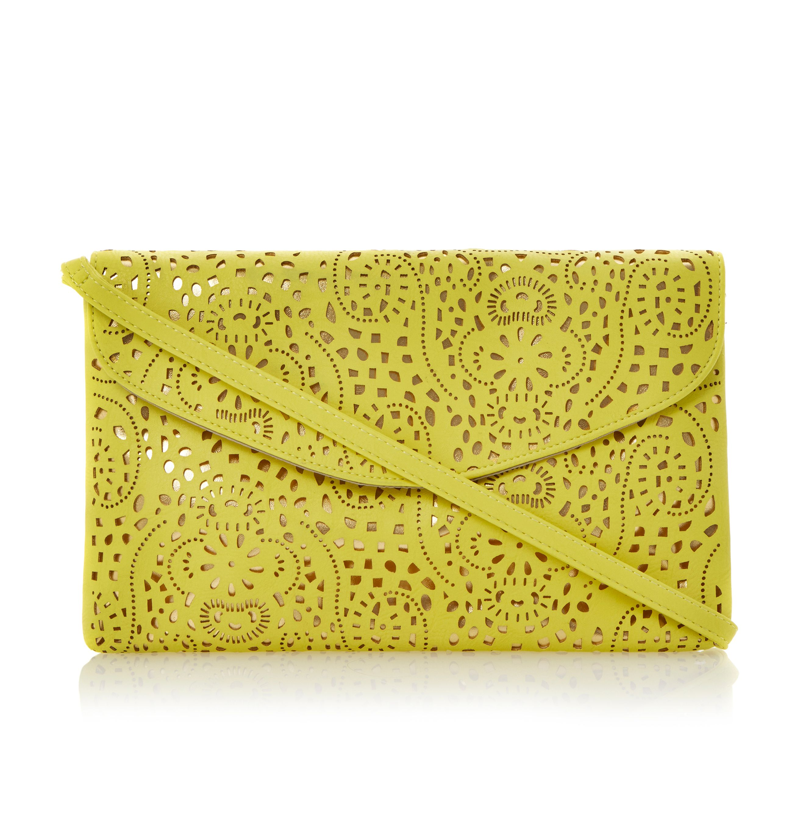Blacee laser cut clutch bag