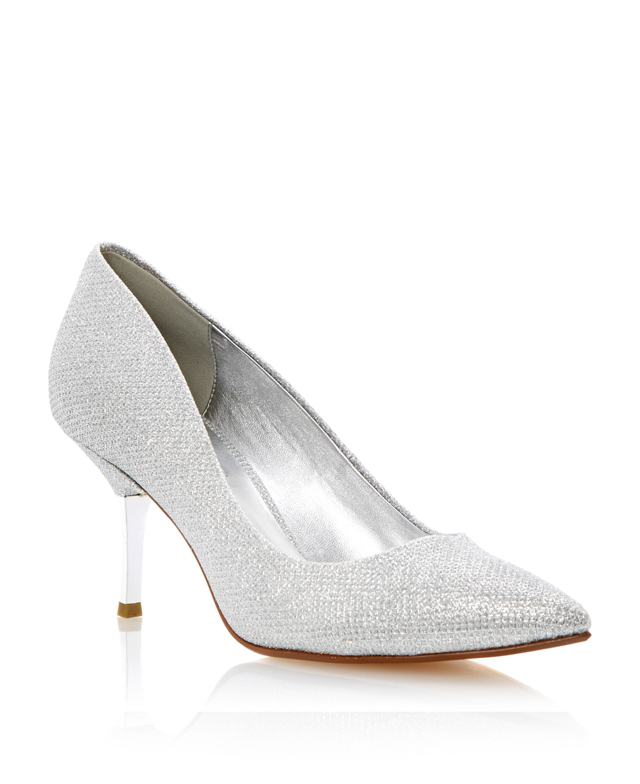 Brill kitten heel occasion court shoes