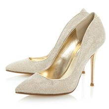 Ballroom lurex pointed court shoes