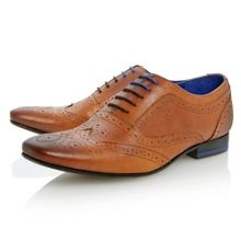 Cirek 2 punch hole detail lace up brogue