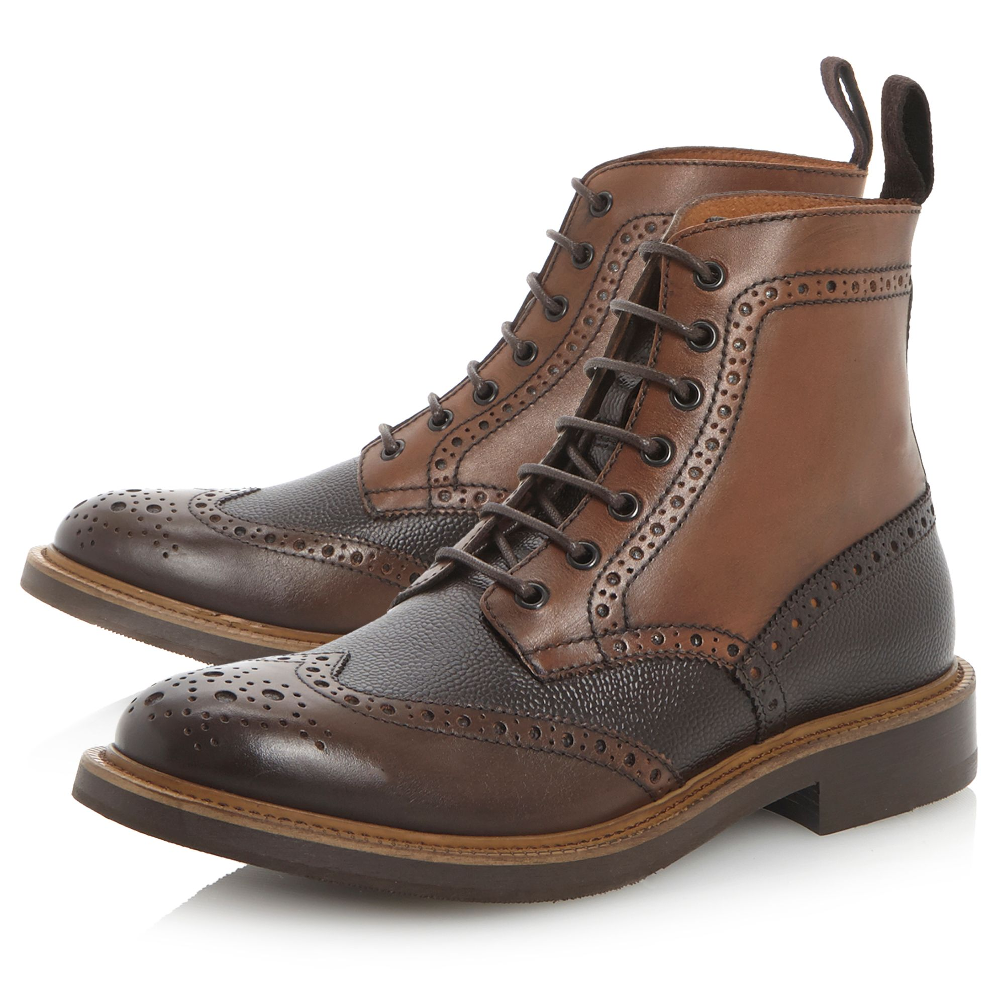 Canterbury heavy brogue lace up boot