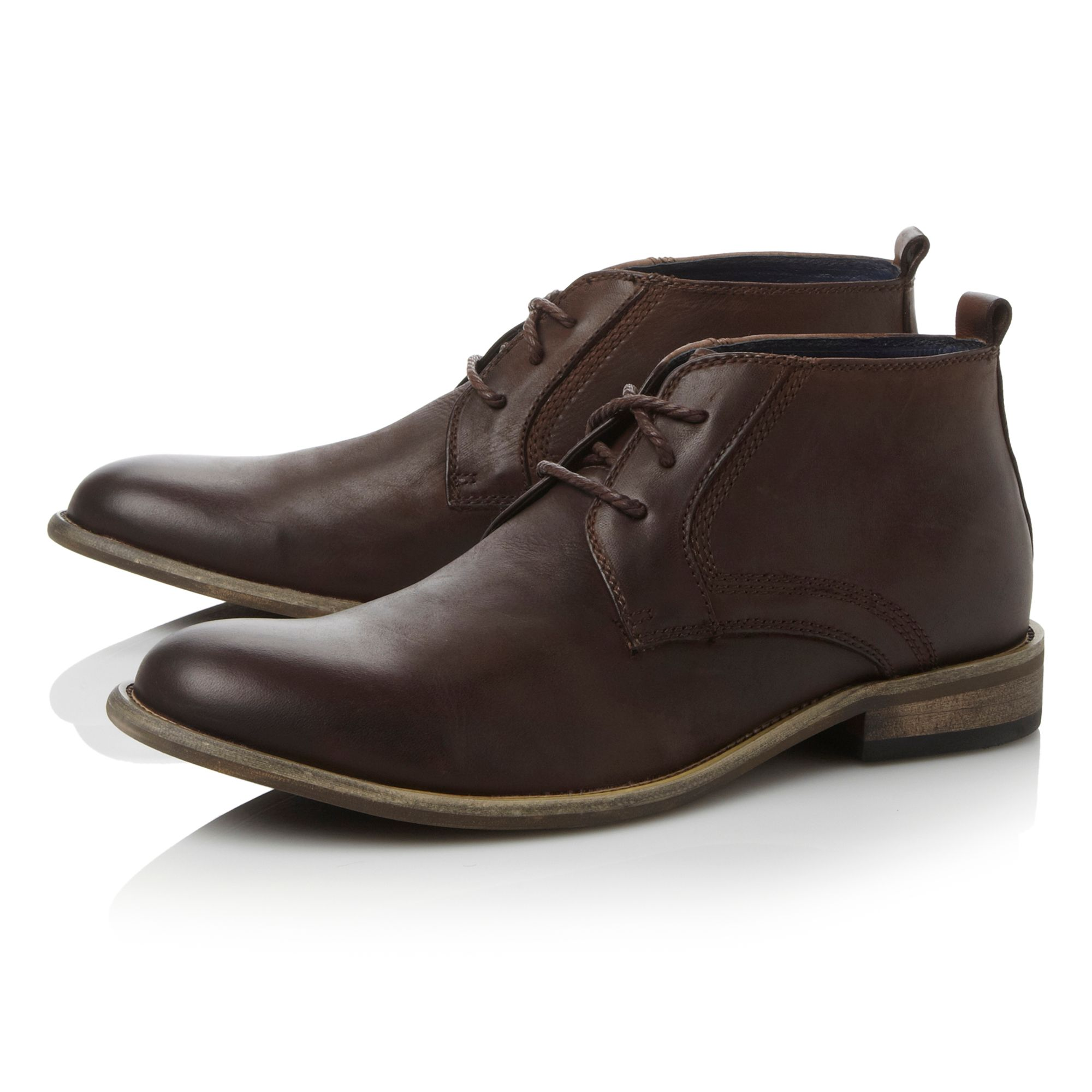 Boro lace up 3 eye casual chukka boots