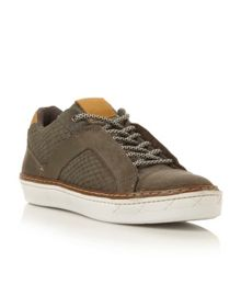 Broozer lace up cup sole trainers