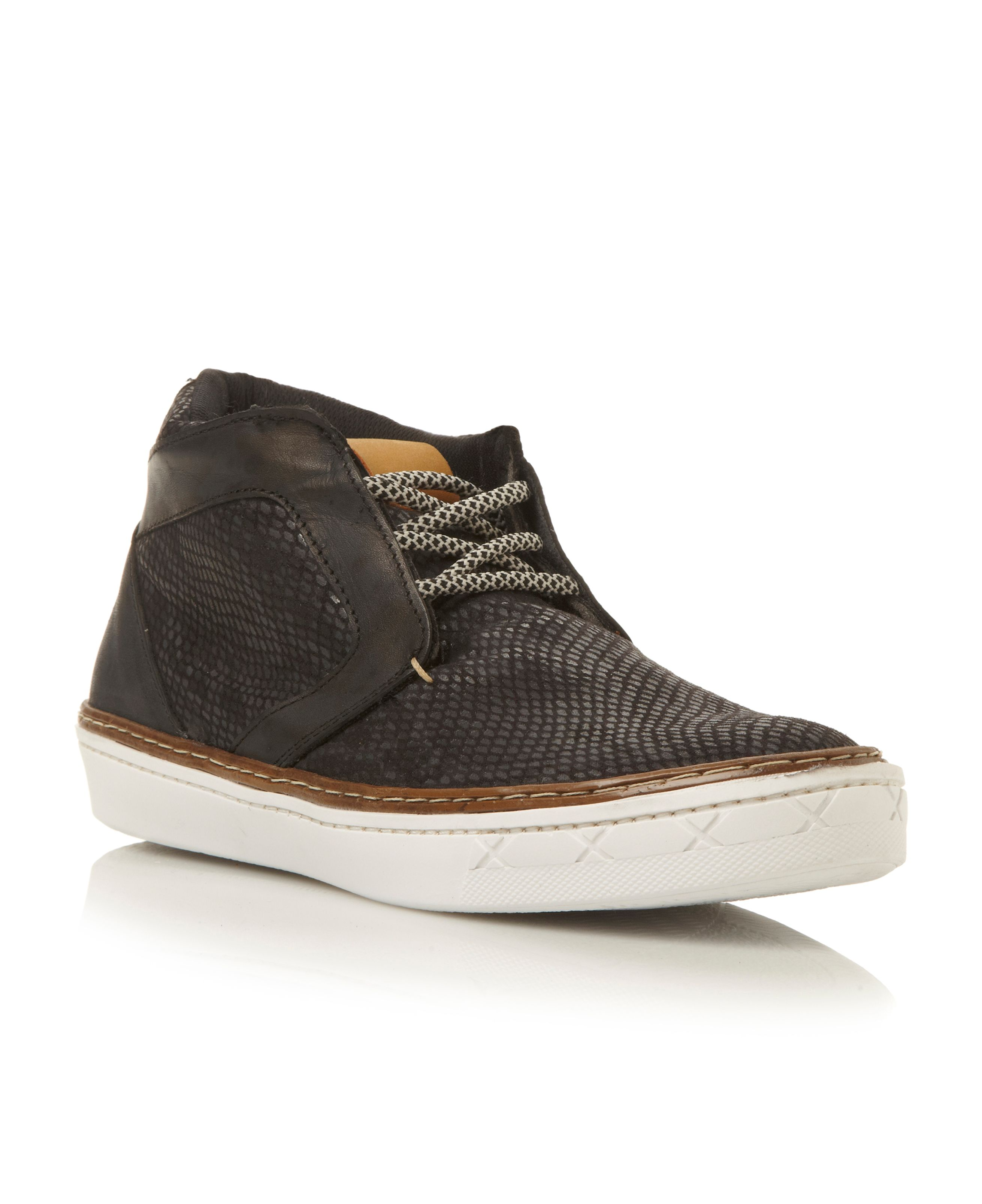 Brazen cup sole lace up high tops