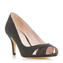 Untold Delamare cross over peep toe court shoes