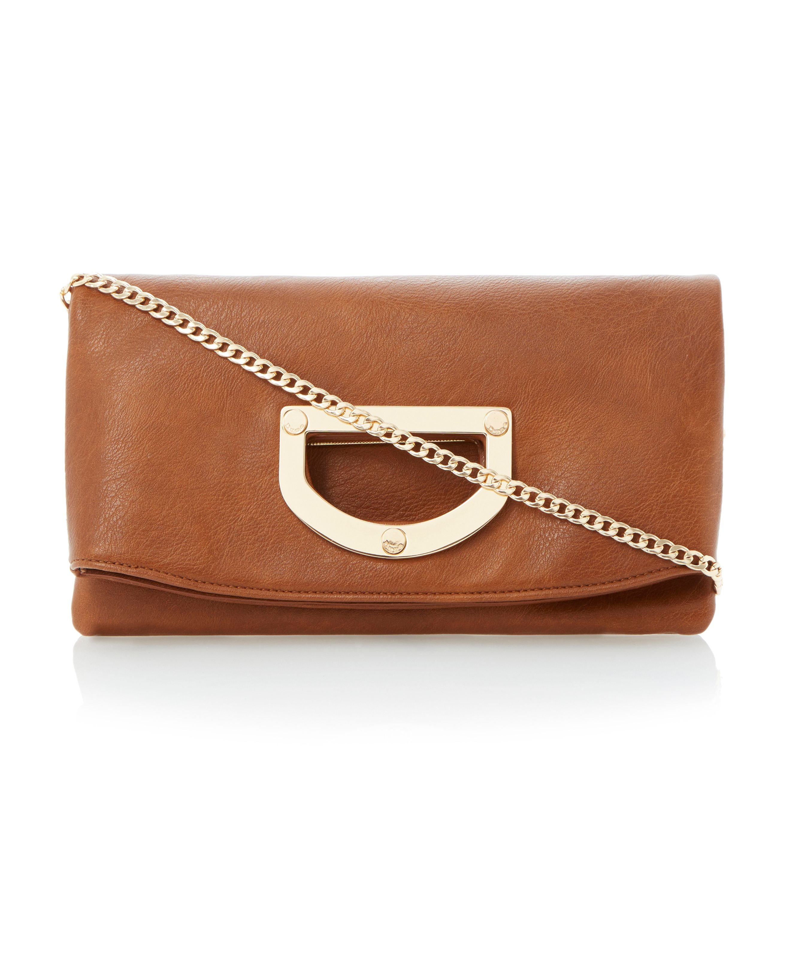 Elite frame handle foldover clutch bag