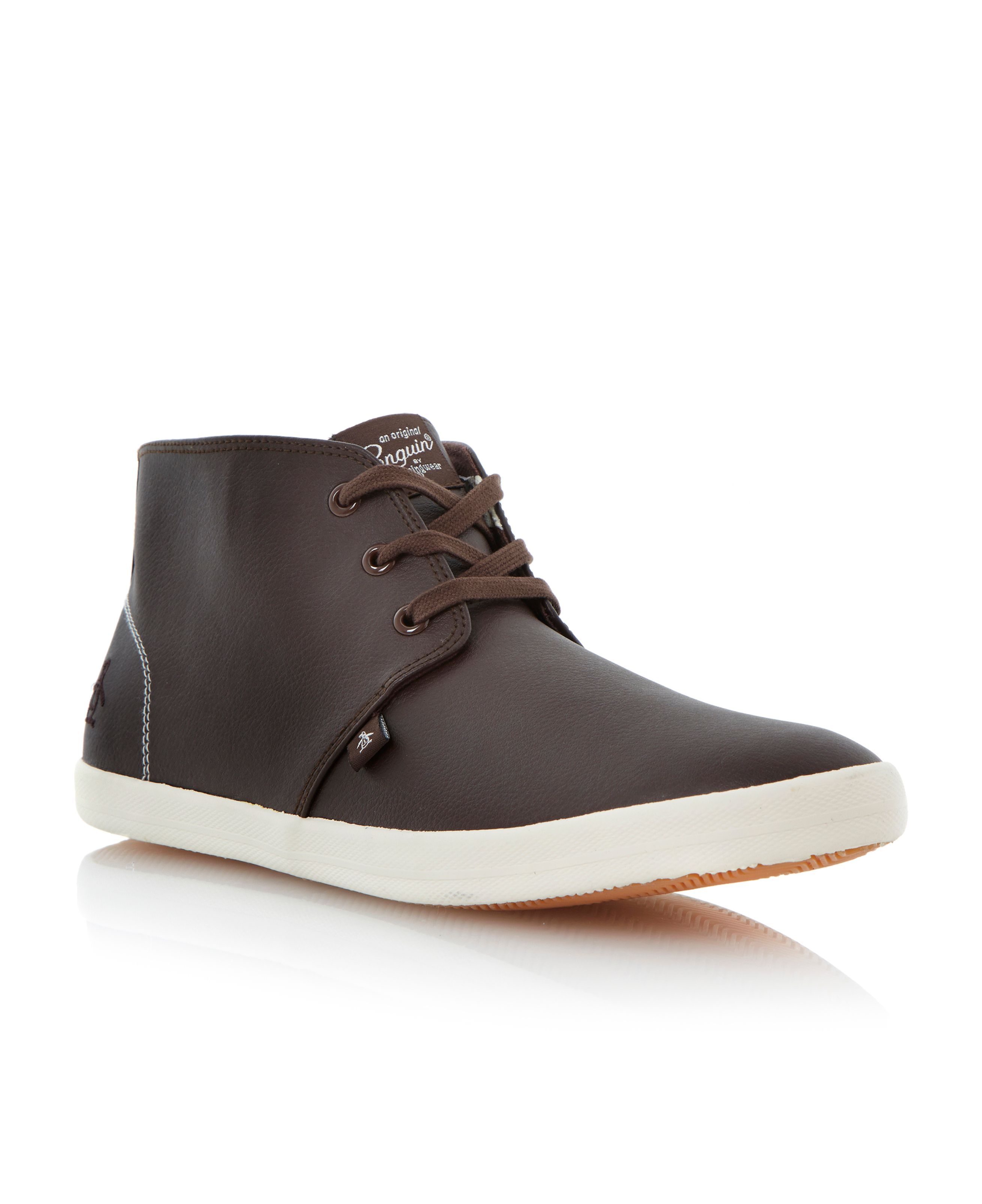 High cliff lace up hi top booties