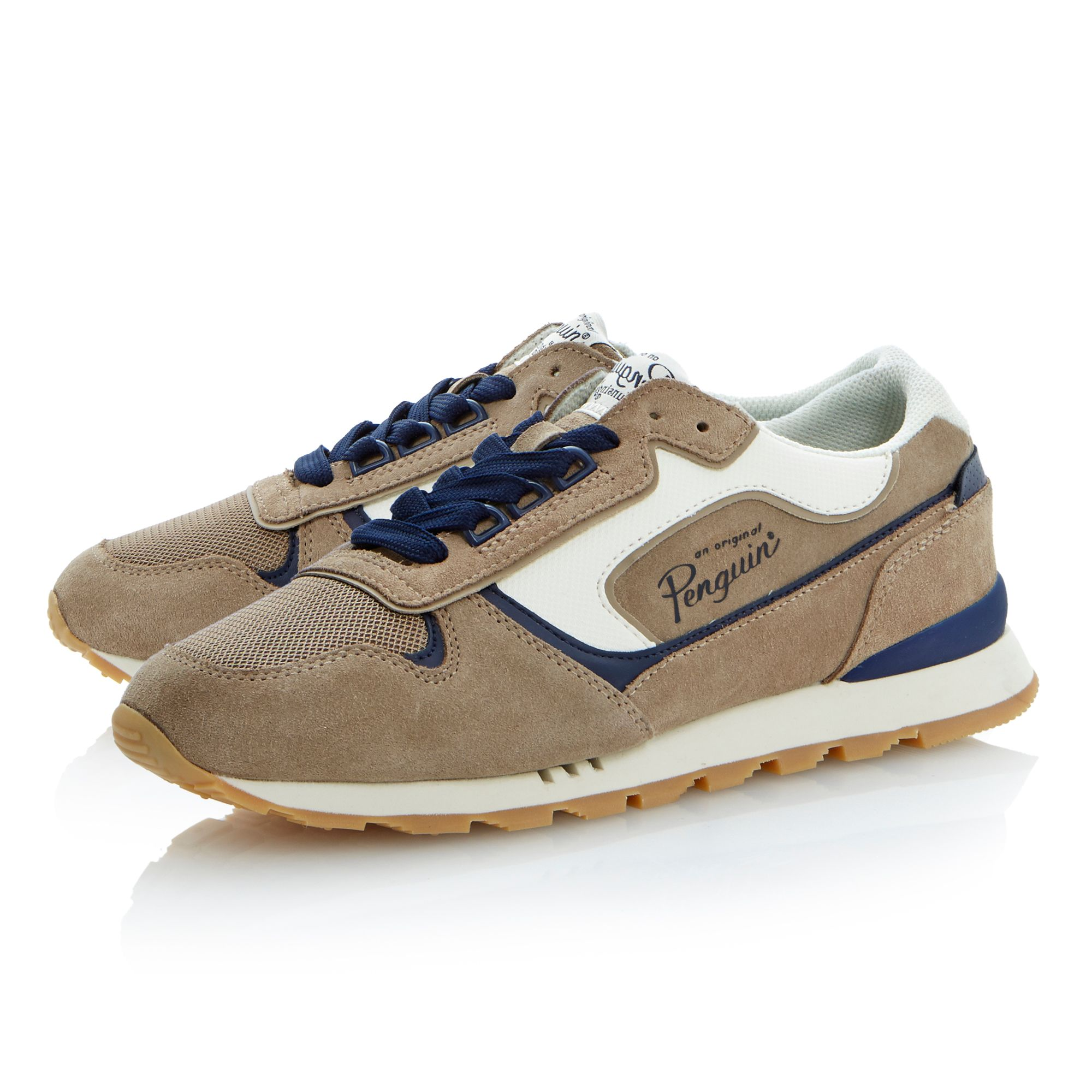 Foxtrot lace up runner trainers
