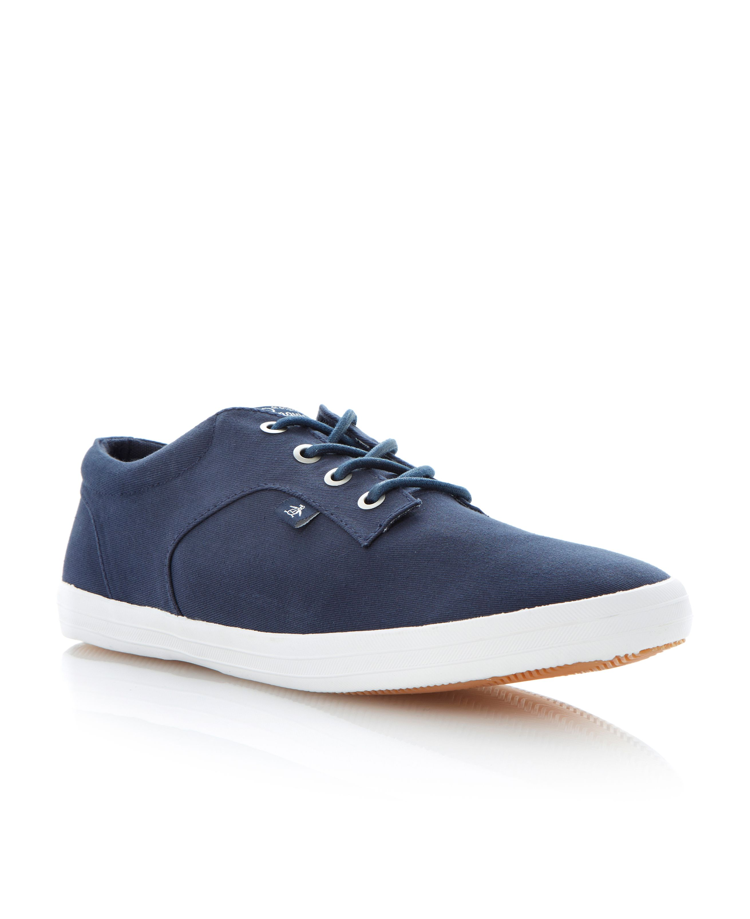 Yale lace up canvas pumps