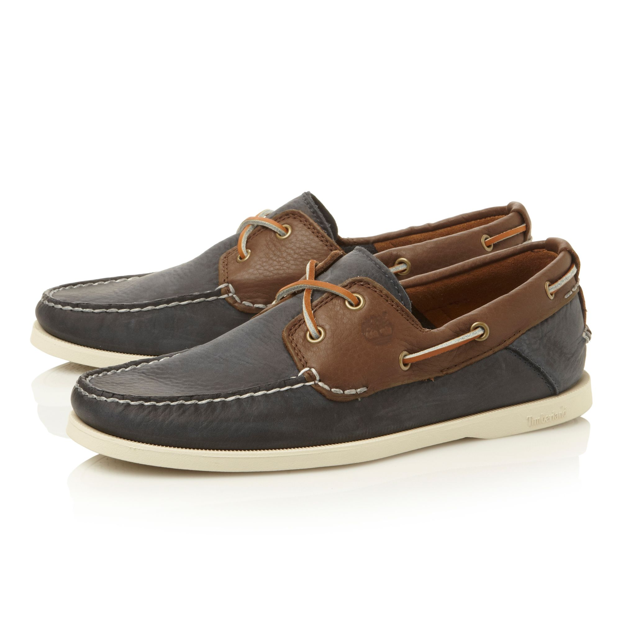 6365a lace up 2 eye contrast boat shoes
