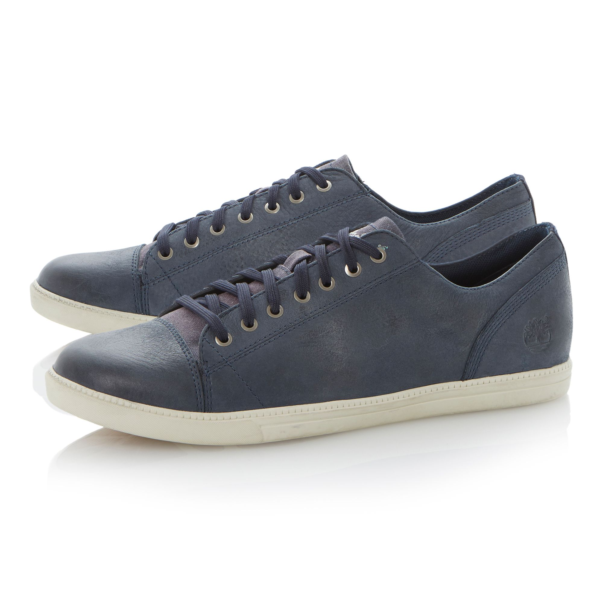 6448a lace up toecap leather sneakers