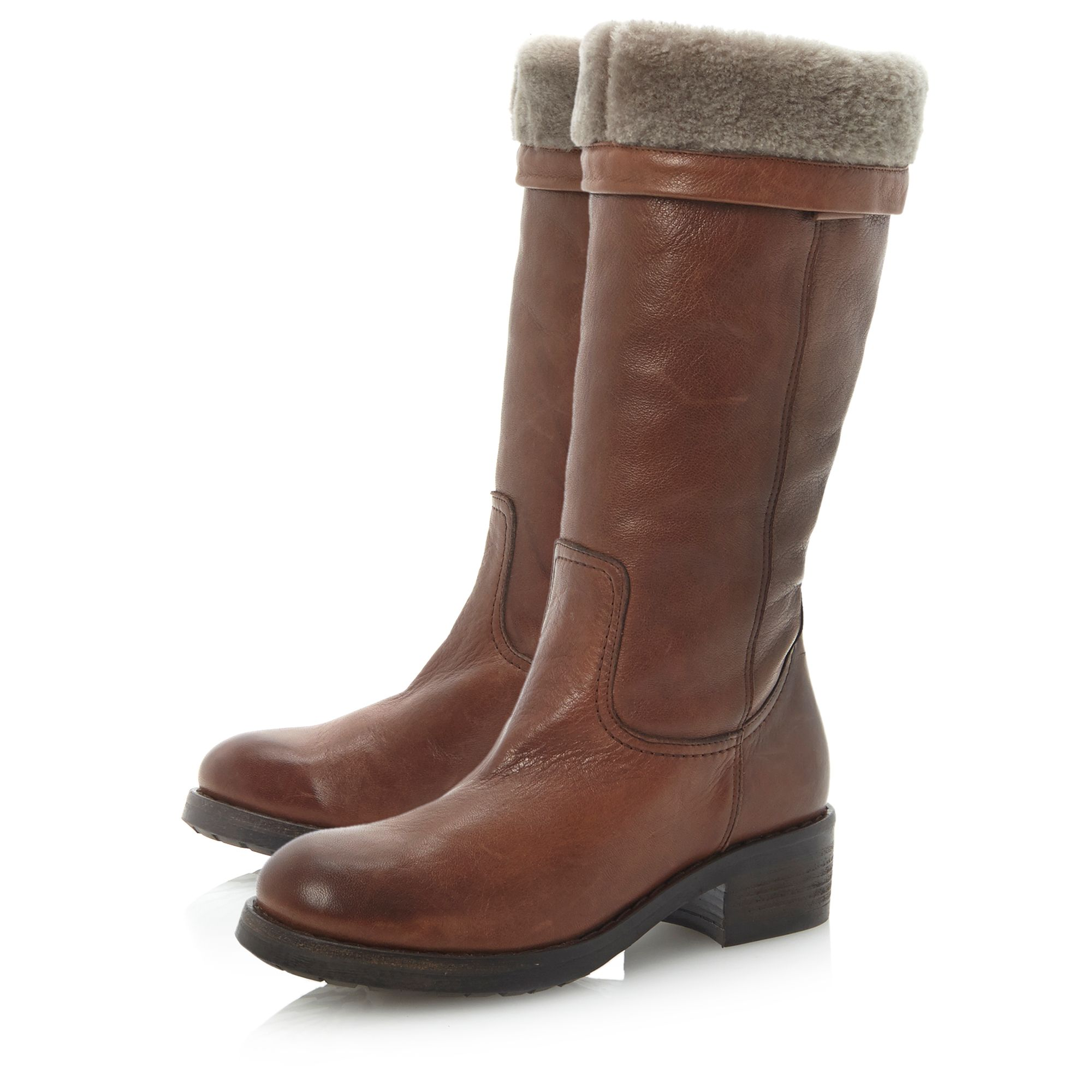 Prestop pull on faux fur lined boots