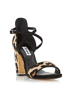 Maybell metal trim block heel sandals
