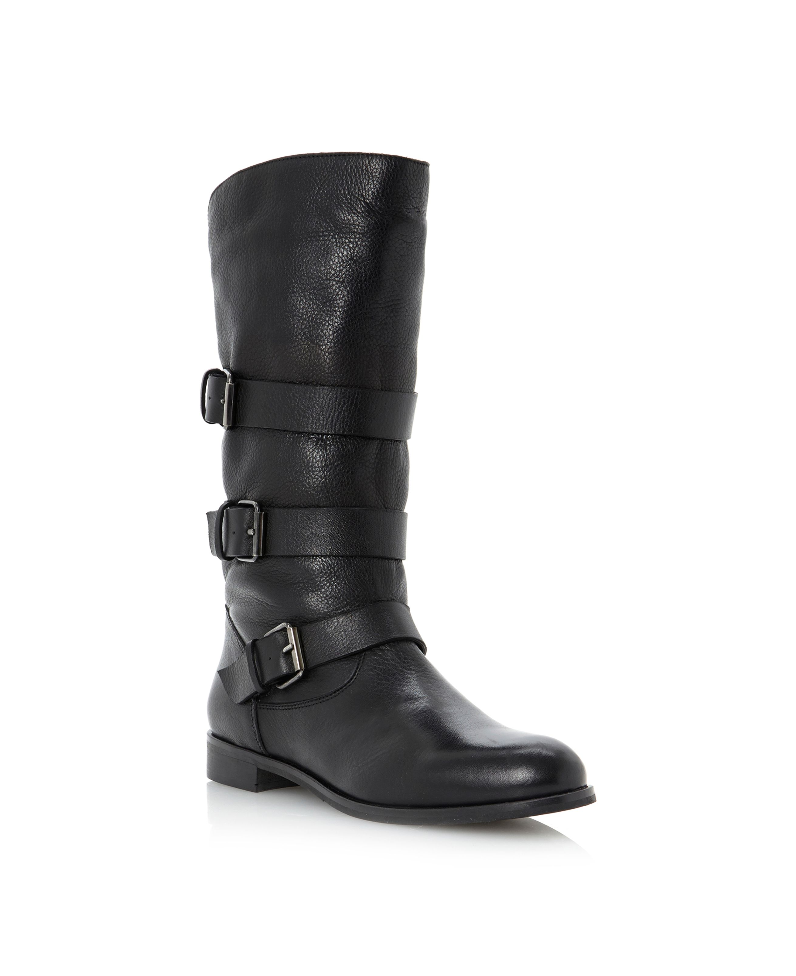 Pettiep multi strap calf boots