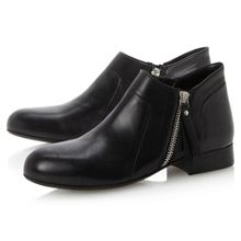 Pringlep cropped side zip shoe boots