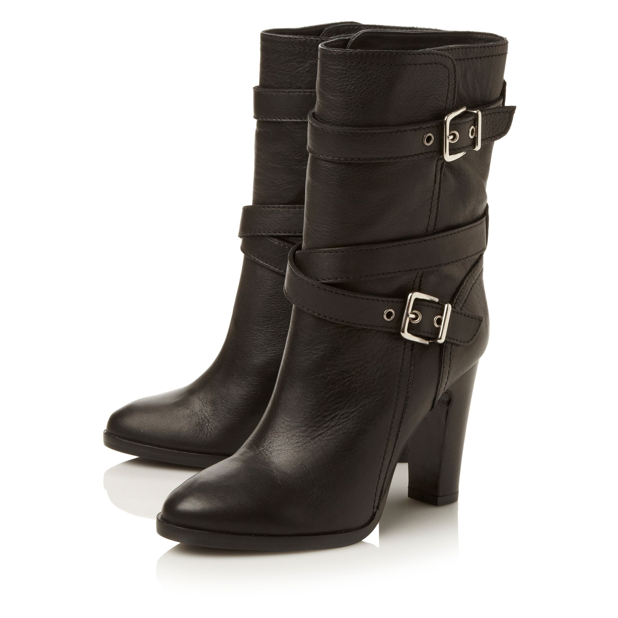 Rangelp simple calf dressy buckle boots
